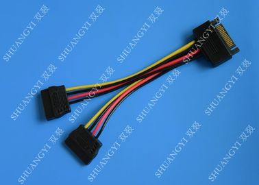 चीन SATA To Dual SATA Data Cable Splitter SSD HDD SATA Cable For Hard Drive आपूर्तिकर्ता