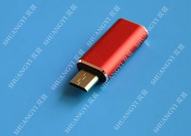 चीन Red USB 3.1 Type C Male to Micro USB 5 Pin Micro USB Slim For Cell Phone आपूर्तिकर्ता